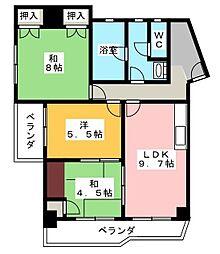 廣澤大協ハイツ[3階]の間取り