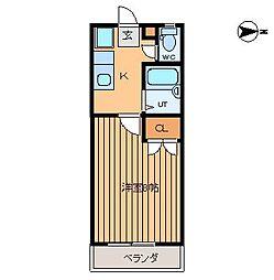 タウンズ笹川第1[205号室]の間取り