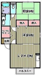 ゼヒランサスA棟[2階]の間取り