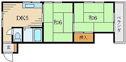 赤田マンション[3階]の間取り