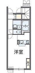 千葉県船橋市咲が丘4丁目の賃貸アパートの間取り