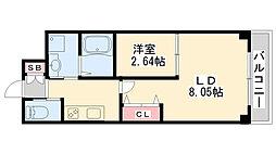 V-Renaissance Otsukachou 1階1LDKの間取り