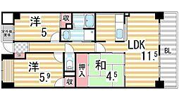 エトワールブリヤン2[5階]の間取り