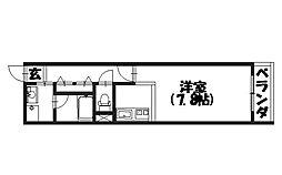 ドミール神足[113号室]の間取り