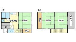 [一戸建] 兵庫県姫路市大塩町 の賃貸【兵庫県 / 姫路市】の間取り