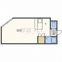 プラムコ−ト札幌[1階]の間取り