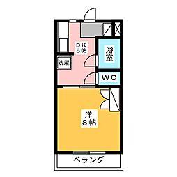 ハイツ赤とんぼ[2階]の間取り