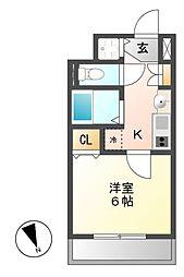 プレサンスNAGOYA桜通ビッグビート[3階]の間取り