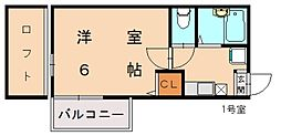 ロッジI[2階]の間取り