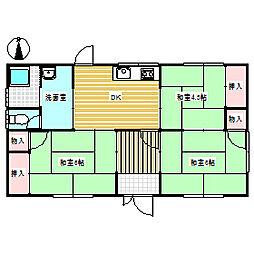 [一戸建] 岡山県赤磐市山陽2丁目 の賃貸【/】の間取り