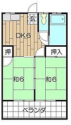コーポ青山[3階]の間取り
