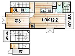 エクスクルーシブI[3階]の間取り
