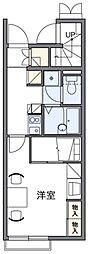 レオパレスプルンニー B[1階]の間取り