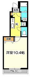 東京都国立市西1丁目の賃貸アパートの間取り