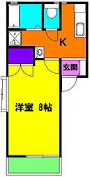 静岡県浜松市中区佐鳴台3の賃貸アパートの間取り