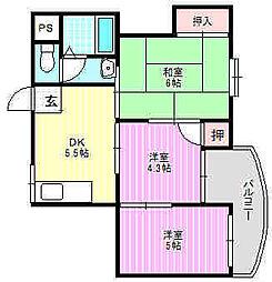 WESTヒルズ神田[3階]の間取り