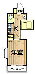 神奈川県川崎市中原区今井南町の賃貸マンションの間取り