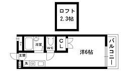 レオパレス夙川[205号室]の間取り