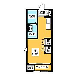 III番館[1階]の間取り