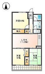日商岩井 徳川ハイツ[10階]の間取り