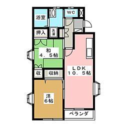 シャトル95[1階]の間取り