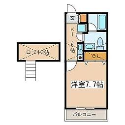 キャッスルアメジストIII[1階]の間取り