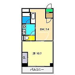 アスターハウス(旭駅前町)[2階]の間取り