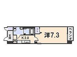 アマルフィ山科[211号室号室]の間取り