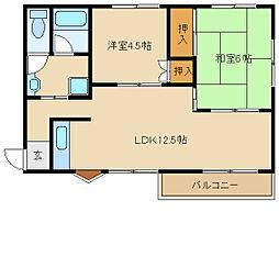 兵庫県尼崎市食満7丁目の賃貸マンションの間取り