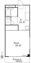 コーポ川島第5[3階]の間取り