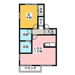 アリエス関田[2階]の間取り