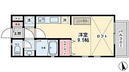 キャトルセゾン新松戸[203号室]の間取り