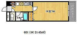 ヴィラ神戸[6階]の間取り