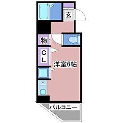 YKハイツ松の内[6階]の間取り