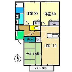 パークハウス A棟[1階]の間取り