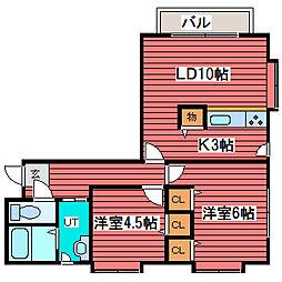 KAURI FLAT[2階]の間取り