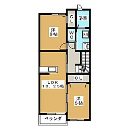 K2 I[2階]の間取り