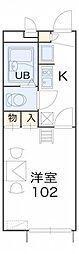レオパレスフルール竹ノ下[2階]の間取り