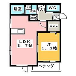 Ever gaden 千種II[2階]の間取り