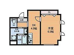 TAIHOクリスタルビル[6階]の間取り
