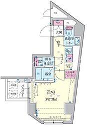 東京都北区赤羽3丁目の賃貸マンションの間取り