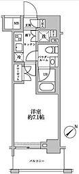 スパシエグランス横浜反町[2階]の間取り