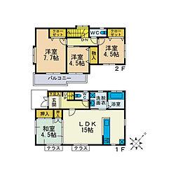 [一戸建] 神奈川県厚木市みはる野2丁目 の賃貸【神奈川県 / 厚木市】の間取り