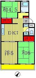 エスプヮール松戸[3階]の間取り