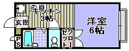 CREST−6[202号室]の間取り