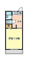 水口マンション[103号室]の間取り