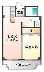 水穂マンション[6階]の間取り