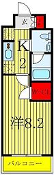 JR埼京線 浮間舟渡駅 徒歩9分の賃貸マンション 4階1Kの間取り