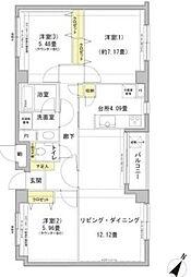 グランフォート目黒[2階]の間取り
