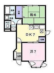 シャルマンオークB[1階]の間取り